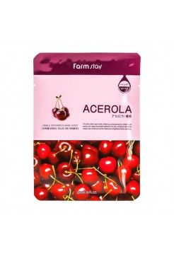 Маска тканевая с экстрактом ацеролы FarmStay VISIBLE DIFFERENCE MASK SHEET Acerola