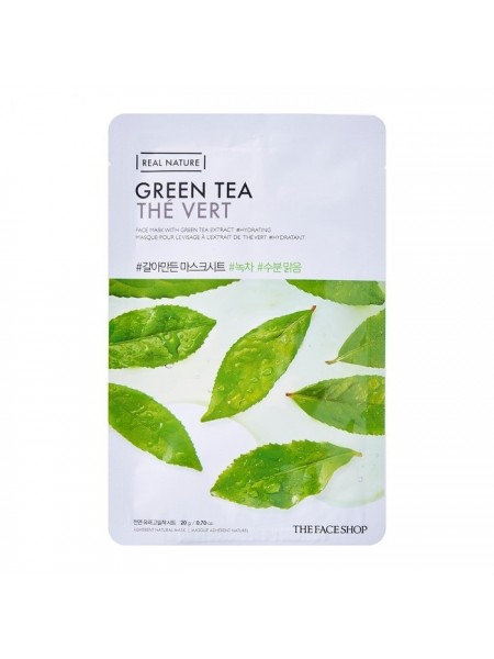 Маска тканевая с экстрактом зеленого чая THE FACE SHOP Real Nature Green Tea Face Mask 20ml