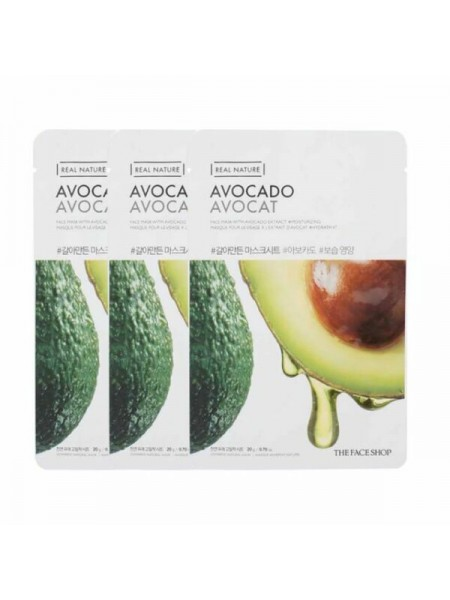 Маска тканевая с экстрактом авокадо THE FACE SHOP Real Nature Avocado Face Mask 20ml