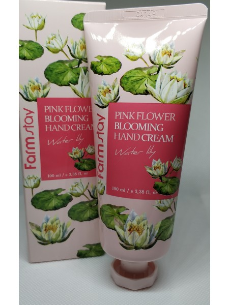 Hand Крем для рук  Farm stay pink flower blooming hand cream water lily