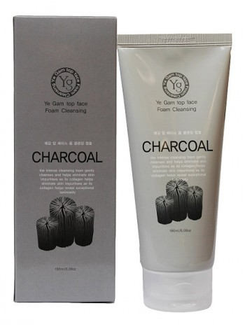 Ye Gam Top Face Charcoal Foam Cleansing 180 ml Пенка с углем Арт. 01844